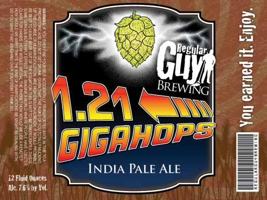 121 GIGAHOPS LABEL