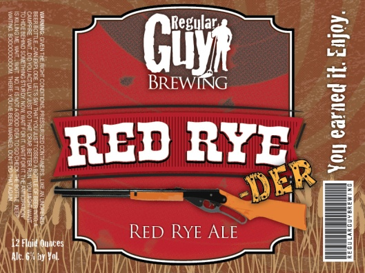RED RYE-DER LABEL